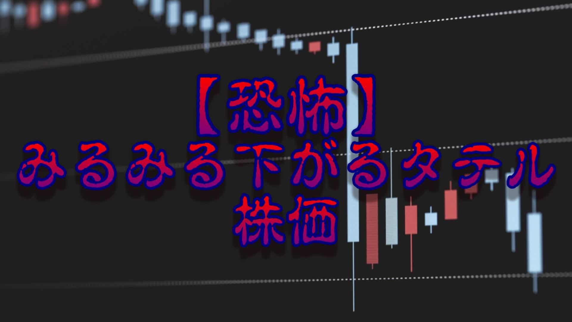 恐怖-みるみる下がる「TATERU(タテル)」の株価