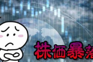 株価暴落...(悲)